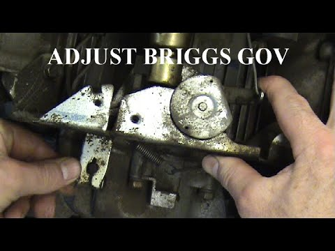 Governor Ajustment Briggs V-twin
