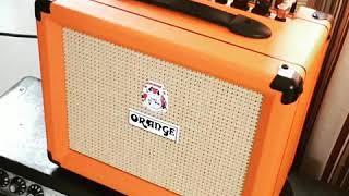 Orange Crush 20 Amplifier, full distortion sound test.