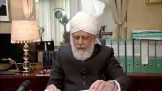 Hazrat Mirza Masroor Ahmad delivers Arabic address
