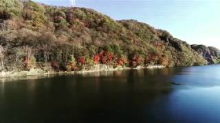 TAC くったり湖の紅葉カヌー ドローンで上空から