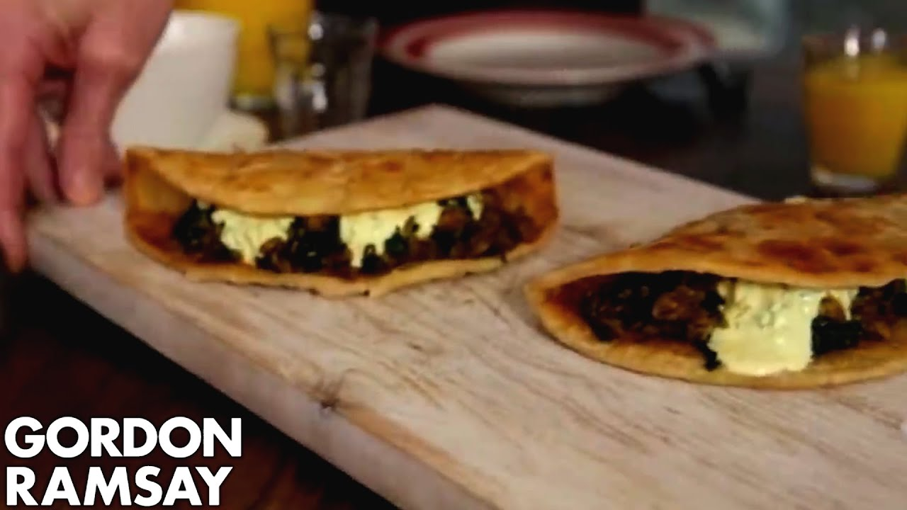 Indian spiced egg spinach wrap gordon ramsay youtube forumfinder Images