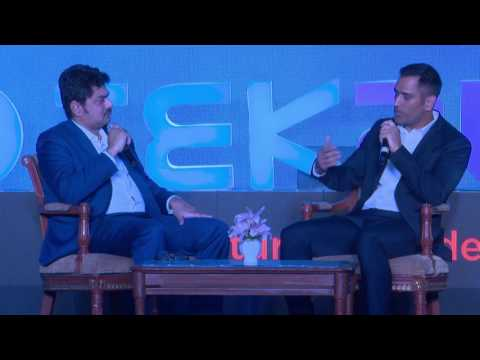 Discussion with M.S. Dhoni