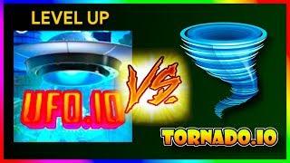 UFO.IO VS TORNADO.IO - 100% Map Control NEW .io Games ( Hole.io Gameplay )