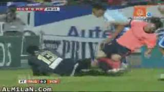 Messi fight with Malaga player