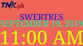 Swertres result today 11am September 19 2019 thursday  Suertres result ez2