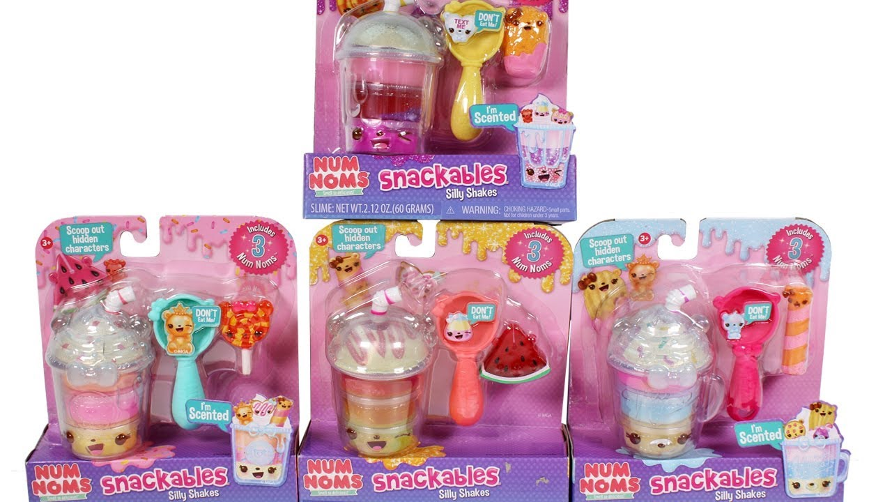Num Noms Snackables Silly Shakes Unboxing Toy Review Youtube