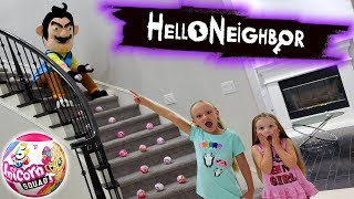Hello Neighbor in Real Life Toy Scavenger Hunt! 5 Surprise Unicorn Squad Found!!!