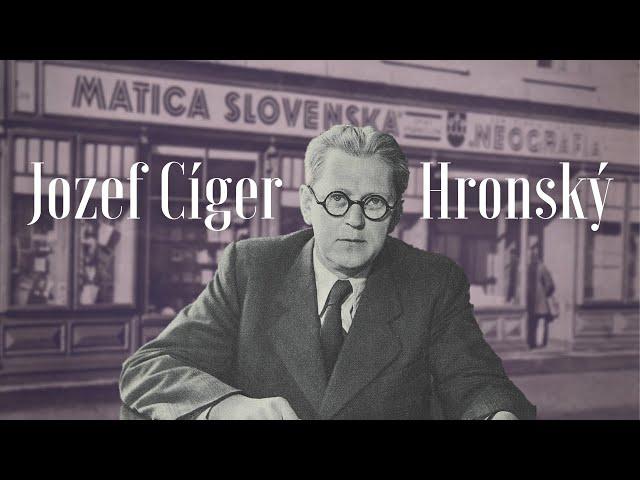 Jozef Cíger Hronský, prvý slovenský manažér kultúry
