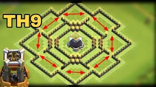 "Best TH9 ""DARK ELIXIR"" FARMING BASE 