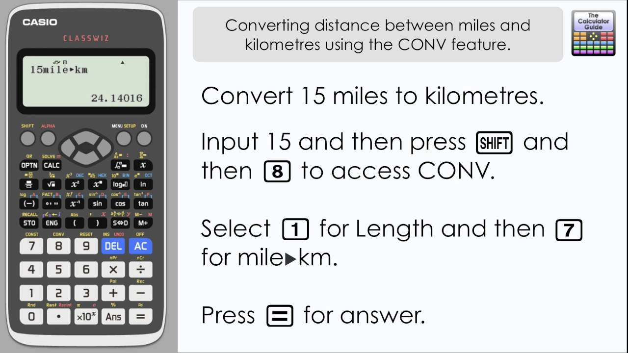 Convert Between Miles Km Kph Mph Using The Conv Conversion