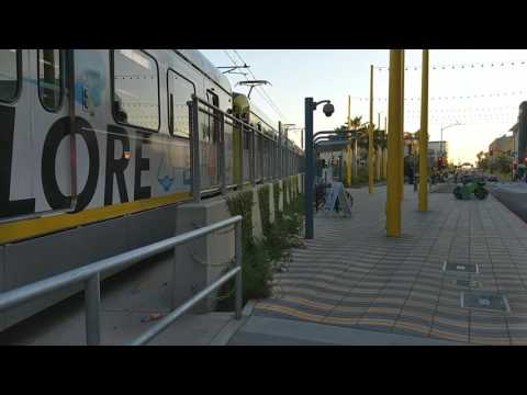 Expo Line Metrorail Train leaving Santa Monica Station