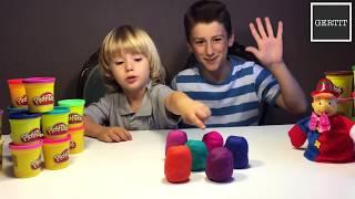 6 Play Doh Surprise Eggs Toys - Minions Summer 2015! Playdough - Play-doh Huevos Sorpresa By GERTIT thumbnail