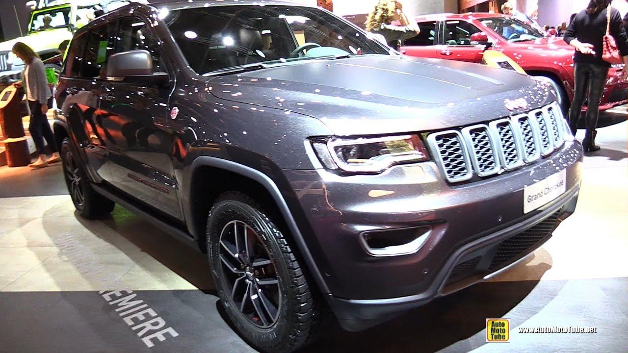 2017 jeep grand cherokee trailhawk 3 0l diesel exterior interior walkaround 2016 paris motor. Black Bedroom Furniture Sets. Home Design Ideas