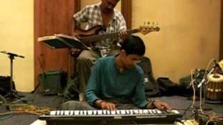 Sankarabaranam notes by Sathya on keyboard