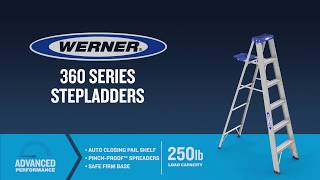Werner Ladder - 360 Series Aluminum Step Ladders