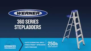 Werner Ladder - 360 Series Aluminum Step Ladders