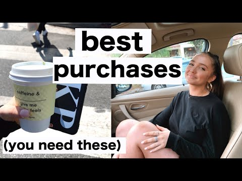 TOP 20 BEST PURCHASES I'VE MADE | clothing, gadgets, makeup, skincare