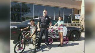 Video Albuquerque officer saves kids' summer, replaces stolen bikes download MP3, 3GP, MP4, WEBM, AVI, FLV Januari 2018