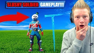 SLUSHY SOLDIER skin gameplay will It be RARE?!? (fortnite battle royale)