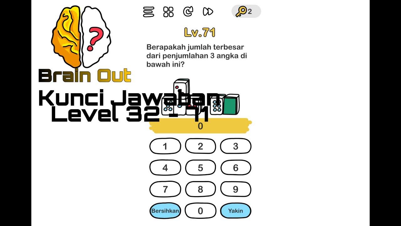 Kunci Jawaban Brain Out Level 32 71 Gameplay Walkthrough Indonesia Youtube