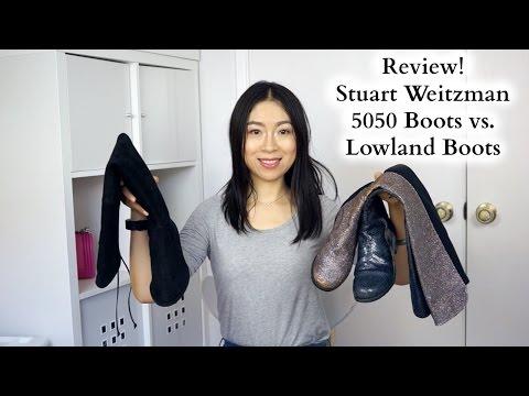 5ac5fd2da5 Stuart Weitzman 5050 Boots vs. Lowland Boots Review | English Subs |  SW靴子对比评测