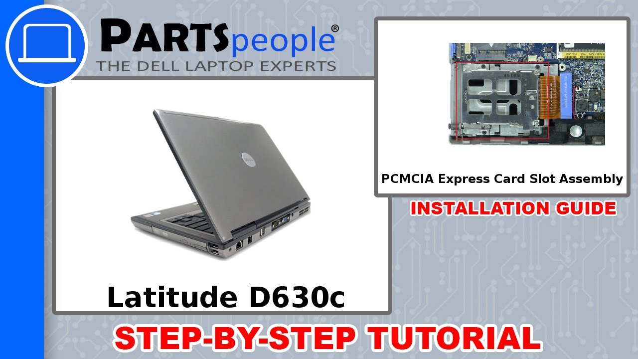 dell latitude d630c pp24l pcmcia express card slot assembly how to