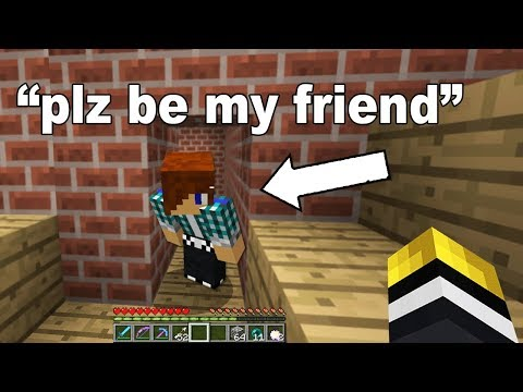 I met the most innocent 9 year old fan after I just raided his Minecraft base! (GAVE HIS ITEMS BACK)