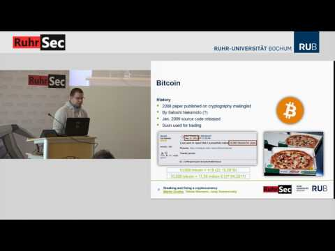 "RuhrSec 2017: ""Breaking and Fixing a Cryptocurrency"", Martin Grothe"