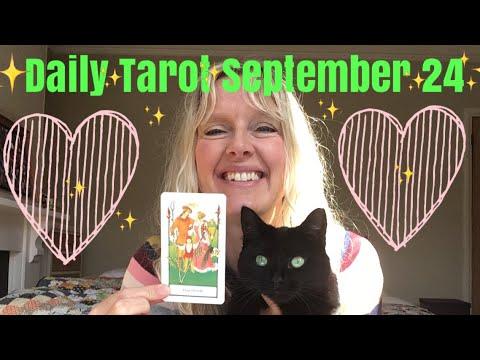 Daily tarot September 24,  2018 ~ Full Moon in Aries Mp3