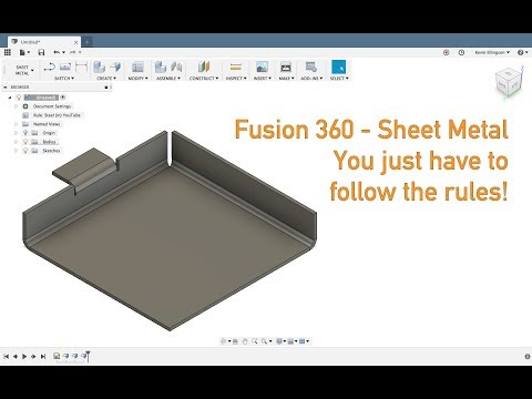 Fusion 360 - Sheet Metal Rules - YouTube