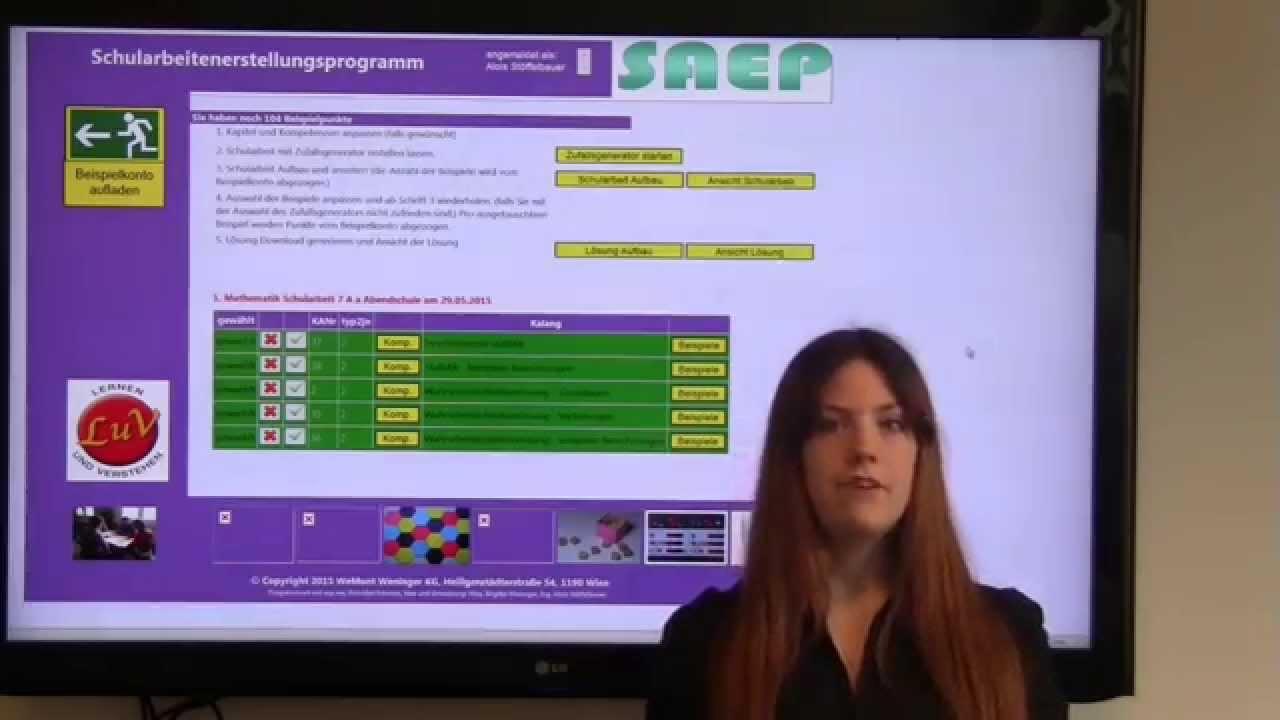 Mathe Schularbeiten Erstellungs Programm Saep Youtube
