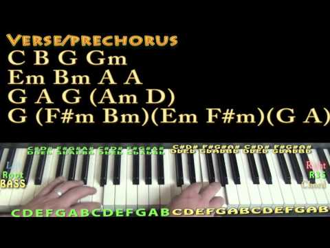 Versace On The Floor (Bruno Mars) Piano Lesson Chord Chart