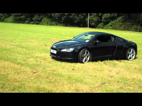 11 yr old kid ripping up a Audi R8 Supercar just for fun