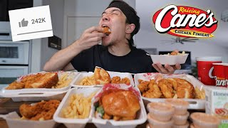 Raising Cane's Full Menu Challenge!! (All 5 Combo Meals)