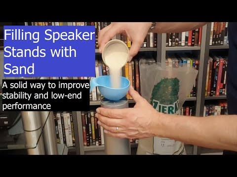 Filling Speaker Stands with Sand - Tips & Tricks part 4