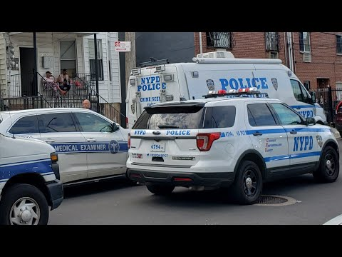 NYPD Crimce Scene Unit And NYC Medical Examiner Operate On Scene Of An Murder Suicide In The Bronx