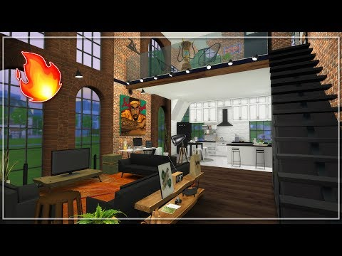 Industrial Tumblr Loft 🔥The Sims 4 CC Speed Build