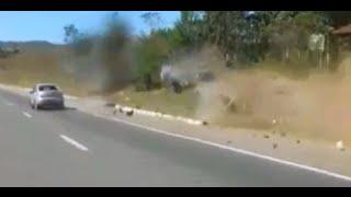 Motociclista Voa, Moto Parte ao Meio, Acidente BR-060, Imprudências nas Estradas