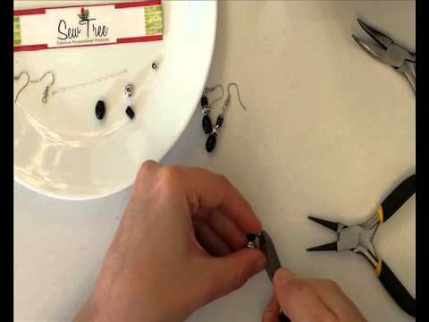 DIY Earrings, Jewellery Making Tutorial: Black and Silver Casual Day Earrings