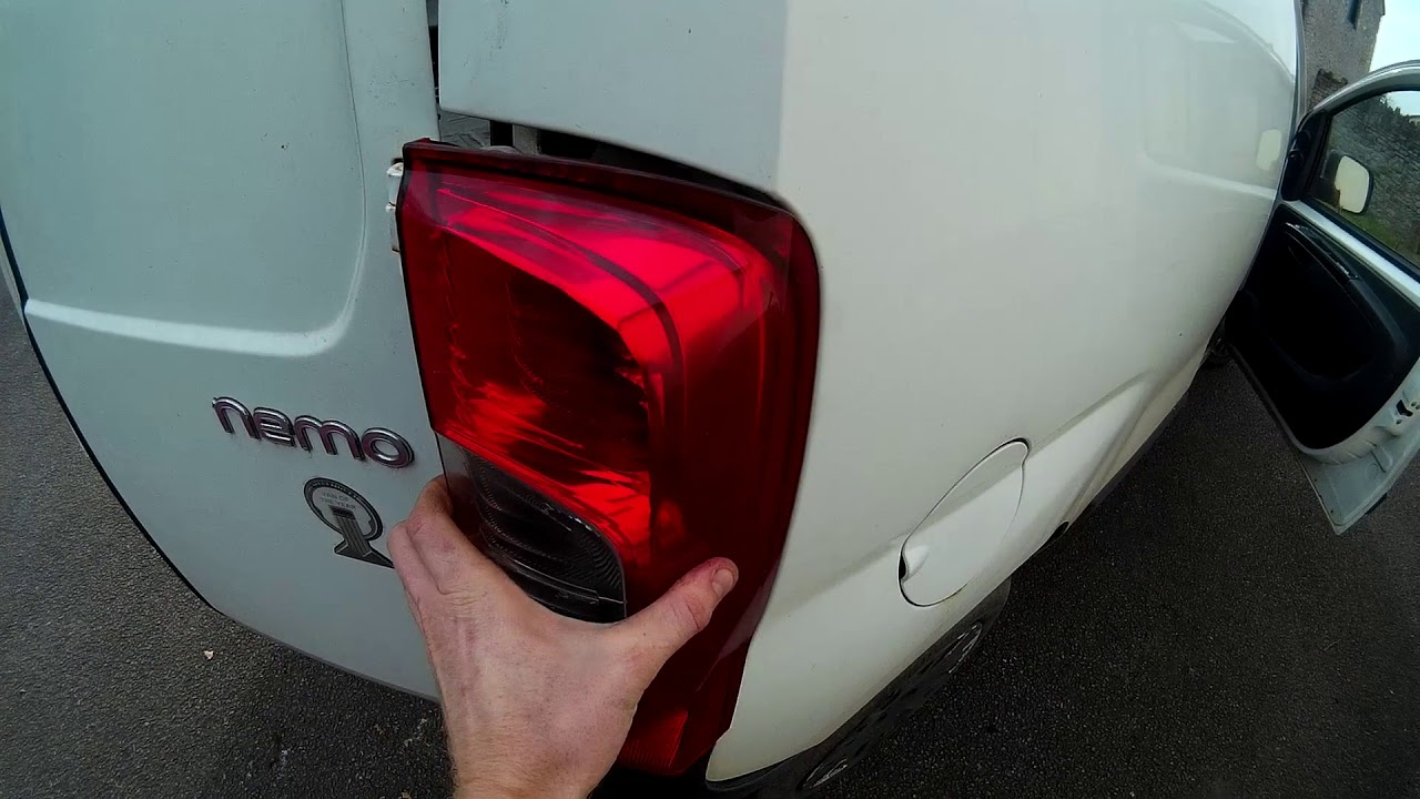 How To Remove Rear Light Citroen Nemo Peugeot Bipper Fiat Fiorino Bulb