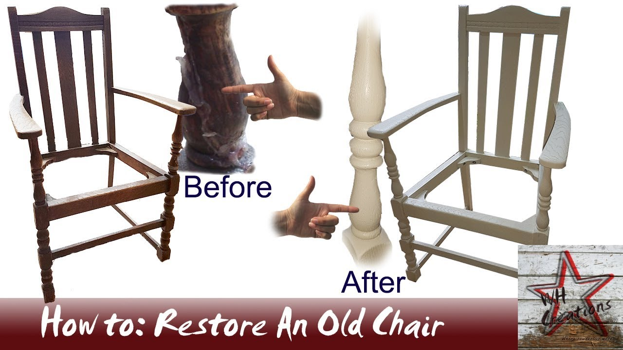 How To: Lovingly Restore And Spray An Old Wooden Chair - YouTube