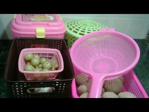 FRUITS AND VEGETABLES STORAGE IDEAS WITH PLASTIC BASKET || KITCHEN STORAGE IDEAS BY SANA'S RASOI