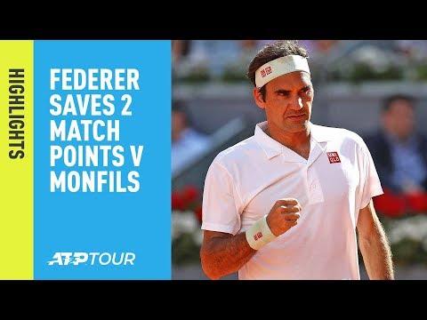 Highlights: Roger Federer Saves 2 MP; Nadal, Djokovic Advance Thursday Madrid 2019