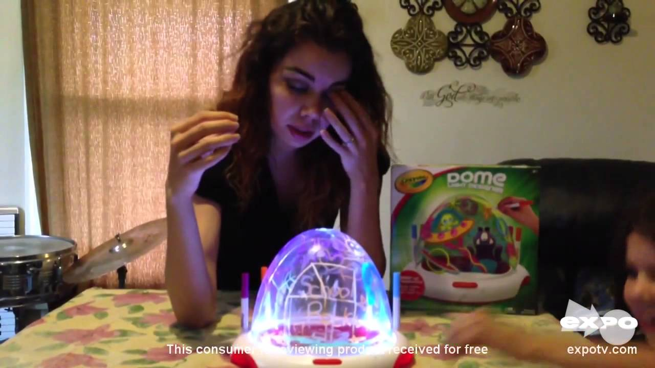 Crayola Dome Light Designer Review Creative Fun With Colors And Lights Youtube