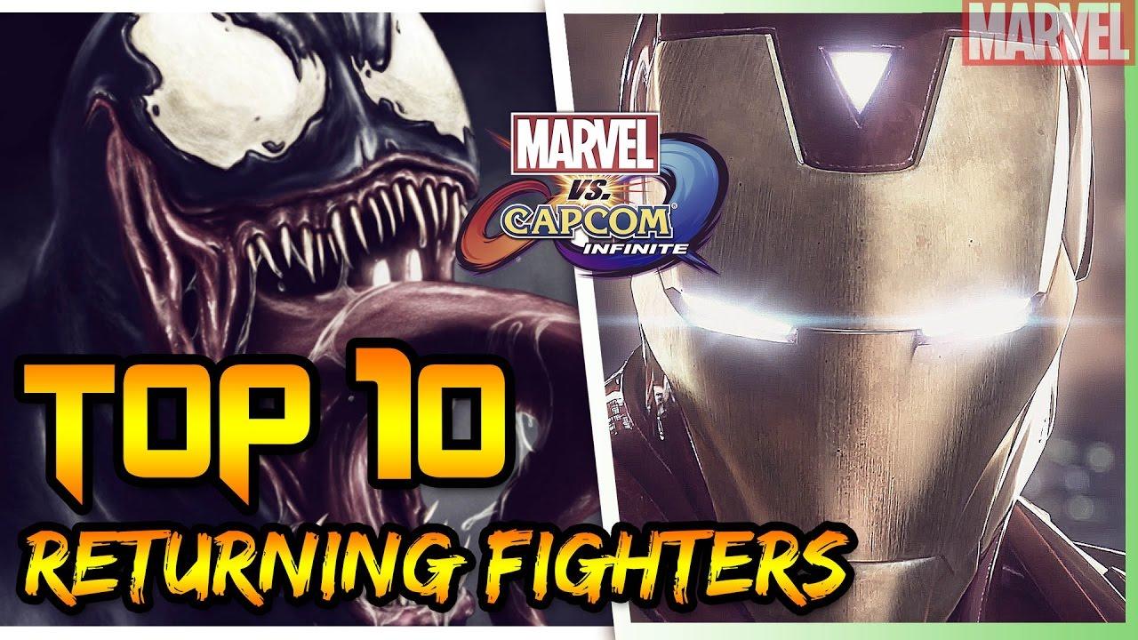 8a3513f267a TOP 10 CHARACTERS for Marvel Vs. Capcom Infinite  MARVEL EDITION ...