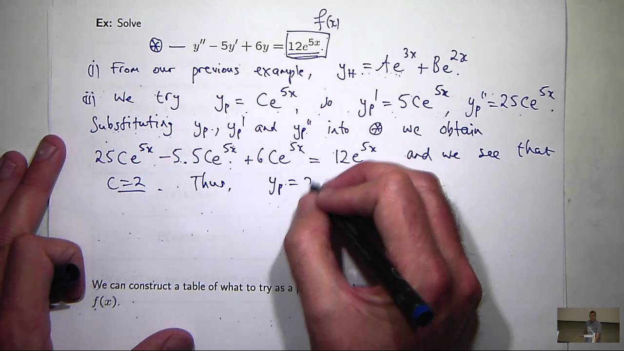 How To Solve Second Order Differential Equations Youtube