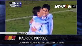 MAURICIO COCCOLO y los números de Lionel Messi en la Selección Argentina