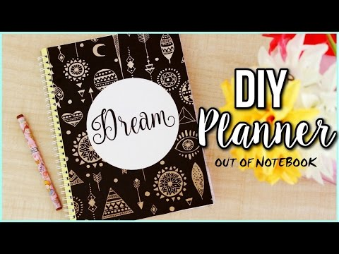 DIY PLANNER FROM NOTEBOOK | DIY planner for the new year 2017