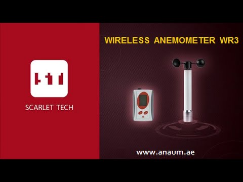 Scarlet Wireless Anemometer WR3 For Crane Safety And Wind Speed