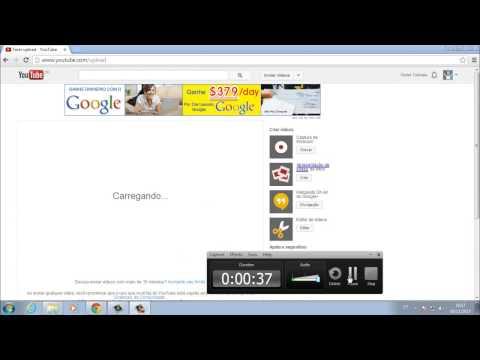 Como botar videos no youtube